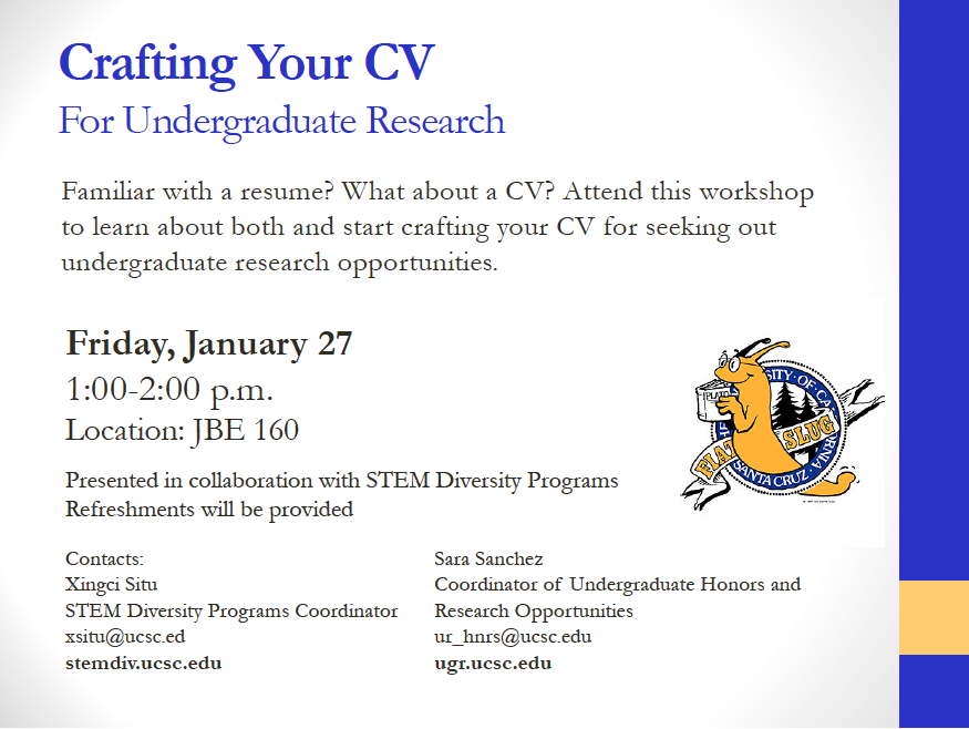 Crafting Your Cv For Undergraduate Research Undergraduate Research